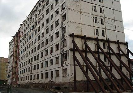 Negative impact of permafrost on a building
