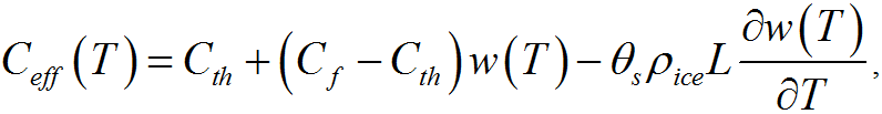 Equation of effective heat capacity
